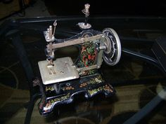 vintage toy sewing machine by TheHouseNextDoor on Etsy