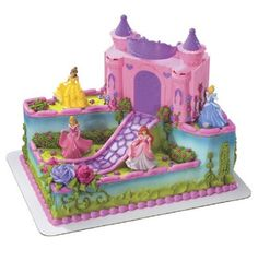 Work with our professional decorators to create the perfect Disney Princess Castle cake for your little girl.