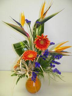 Bird of Paradise Arrangement in Orange - Bird of Paradise Arrangement Flower Delivery From Briarwood Florist - Orange