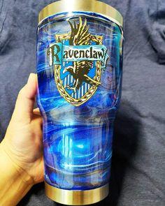 RavenClaw Glitter Tumbler Custom - 30oz Curvy