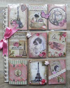 """""""Vintage Pink Paris"""" Pocket Letter - Simply stunning."""