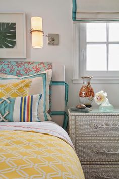 House of Turquoise: Brittney Nielsen Interior Design - colorful turquoise coastal bedroom