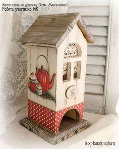 Пошаговый фото мастер класс по декупажу чайного домика для начинающих