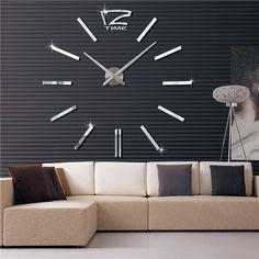 Ρολόι+Τοίχου+Mirror+Hour+Do+It+YourselfΈνα+ρολόι+με+πρωτότυπο+Design+για+το+χώρο+σας,+όπου+μπορείτε+να+το+φτιάξετε+μόνοι+σας+ανάλογα+με+τον+διαθέσιμο+χώρο+που+έχετε+στον+τοίχο+σας. …