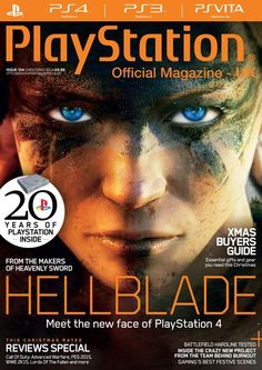 Official PlayStation Magazine 104. What #Ninja Theory did next – we get a behind-the-scenes look at the DmC developer's new actioner at the very start of its creation. What do you buy the gamer who has every #game? #Hellblade.