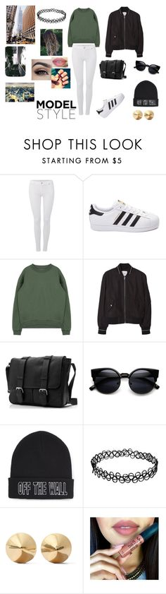 """Sportwear/Urbain"" by modefan2 on Polyvore featuring mode, 7 For All Mankind, adidas, MANGO, Vans, Eddie Borgo, women's clothing, women, female et woman"
