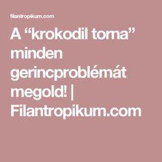 "A ""krokodil torna"" minden gerincproblémát megold! | Filantropikum.com"