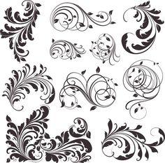 Винтажные цветочные узоры / Vector Vintage Patterns