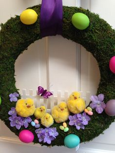 Easter Wreath Easter Egg Wreath Easter by CelebrateAndDecorate, $46.50