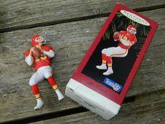 Vintage 1995 Hallmark Joe Montana Christmas Ornament Original Box by allthatsvintage56 on Etsy