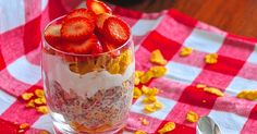 This Vegan Strawberry Shortcake Chia Seed Pudding has layers of deliciousness. It's creamy, crunchy, and the texture is absolutely delightful.