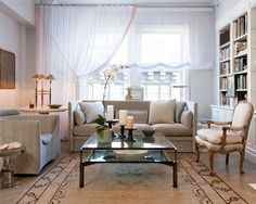 light gray couch living room ideas | ... Living Room Using Light Gray Couch And Single Couch Combined With