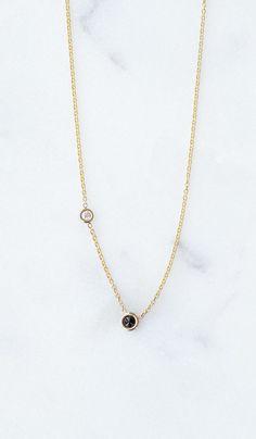 """Hortense Double Diamond Necklace , 18"""" chain  Spartan Shop"""