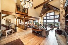 Craftsman Style House Plan – 3 Beds 5 Baths 3959 Sq/Ft Plan Interior – F… Craftsman Interior, Craftsman Style House Plans, New House Plans, Home Design Plans, Home Fashion, Great Rooms, New Homes, Floor Plans, House Styles