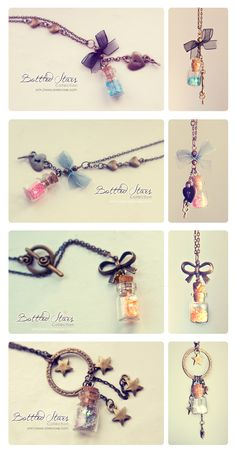 Bottled Stars. Necklace collection. ONLINE AGAIN by Bea-Gonzalez.deviantart.com