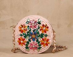Borse Dolce & Gabbana Autunno/Inverno 2013-2014 - Borsa pochette rotonda in rafia con applicazioni