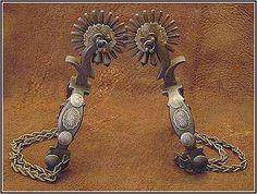 The value of Western antique spurs - InfoBarrel Spurs Western, Cowboy Spurs, Cowboy Gear, Cowgirl And Horse, Western Art, Cowboy Boots, Spur Straps, Charro, Horse Gear