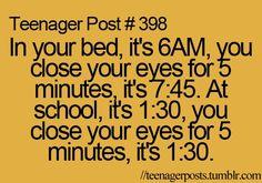 Closing Your Eyes: Bed vs. Schoolツ #Humor #Funny #Relatable