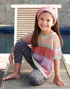 Revista Niños 77 Primavera / Verano   3: Niños Jersey   Rosa / Azul agua / Malva claro / Rosa muy oscuro / Rosa claro