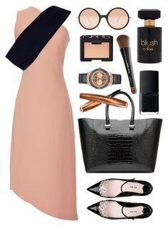 """""""Osman Dress"""" by thestyleartisan ❤ liked on Polyvore featuring moda, Osman, NARS Cosmetics, Forever 21, Victoria Beckham, Miu Miu, GUESS e Bobbi Brown Cosmetics"""