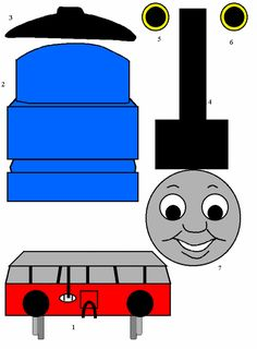 Thomas and Friends: Thomas the Tank Engine Paper Craft - it's on! Stone Stone Simmons For Kyle Thomas Birthday Parties, Thomas The Train Birthday Party, Trains Birthday Party, Train Party, Pirate Party, Third Birthday, Friend Birthday, Boy Birthday, Birthday Ideas