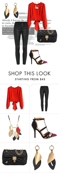 """""""Untitled #2668"""" by janicemckay ❤ liked on Polyvore featuring Chicwish, Marni, Qupid and Betsey Johnson"""