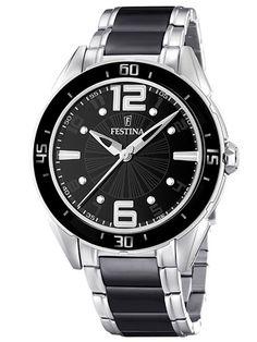 (Limited Supply) Click Image Above: Festina Womens Ceramic Ceramic Watch - Two-tone Bracelet - Black Dial - Quartz Watch, Rolex Watches, Wrist Watches, Omega Watch, Ceramics, Crystals, Amazon, Stuff To Buy, Black