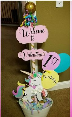 #unicorn party welcome sign Follow me on @Allaboutubowtique on Facebook or Uruniquebowtique on or #Uruniquebowtique on Instagram