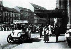 """Nordbahnhof (Stettiner Bahnhof) -  Im Hintergrund erkennt man an der Invalidenstraße ganz links das """"Hotel am Stettiner Bahnhof"""" mit der Schnellgaststätte """"Aschinger"""" - ganz rechts das Hotel """"Baltic"""" (1910)"""