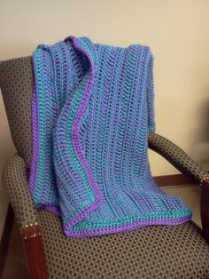 Purple and Blue Baby Blanket / Teal Throw / Purple by tinybabylady, $42.00