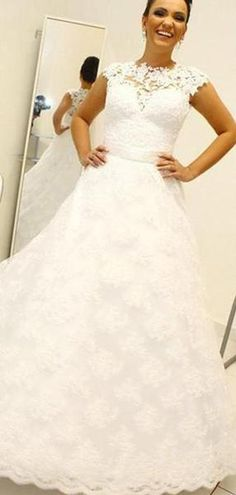 Nov 22 Lace See Through Detachable Skirt A-line Cheap Wedding Dresses Online LoverBridal Cheap Wedding Dresses Online, Wedding Dresses Plus Size, Wedding Party Dresses, Cheap Dresses, Bridal Dresses, Gown Wedding, Wedding Venues, Backless Wedding, Lace Wedding