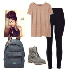 """""""GRAY TIMBERLANDS"""" by dopeoufits245 ❤ liked on Polyvore featuring Timberland, Violeta by Mango and FOSSIL"""