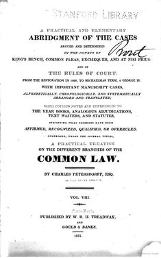 Vol VIII A Practical and Elementary Abridgment of the Cases Argued and Determined in . Last Will And Testament, Legal System, Police Detective, Regency, Cases, Bobs, Bob Hairstyle, Bob, Bob Cuts
