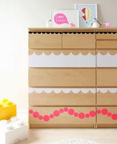 Kinderzimmer Deko Ideen Ikea Kommode aufpeppen