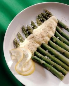 """Asparagus with Honey Sauce   Mireille Guiliano's """"French Women Don't Get Fat"""""""