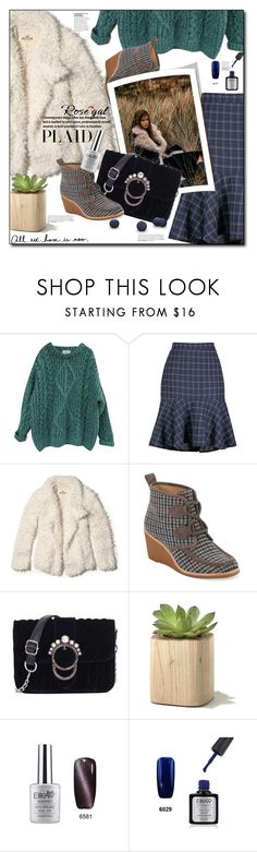"""Plaid Style In My Way..WIN $20 CASH..ROSEGAL"" by astromeria ❤ liked on Polyvore featuring Essentiel, Hollister Co. and G.H. Bass & Co."