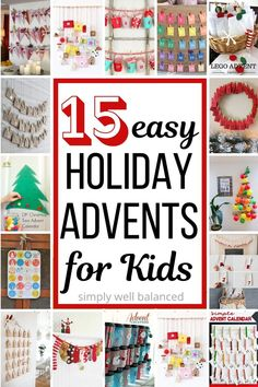 Loving these easy DIY advent calendar ideas to make with kids. The perfect Christmas craft for kids! These simple advents are a fun way to countdown the days until Christmas. Easy Xmas crafts for kids! Childrens Advent Calendar, Advent For Kids, Advent Calendars For Kids, Easter Activities For Kids, Kids Calendar, Lego For Kids, Diy Advent Calendar, Holiday Activities, Calendar Ideas