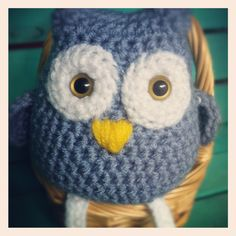Blue Owl Doll. $12.00, via Etsy.