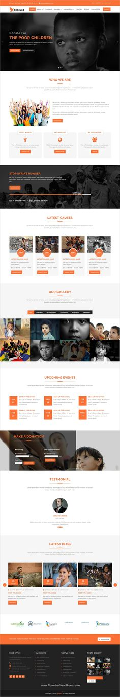 Believed is clean and modern design responsive #bootstrap HTML5 template for #Charity and nonprofit organizations #website to live preview & download click on image or Visit