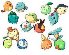 Pokemon Starters Gen1-Gen5