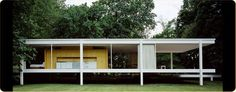 Fransworth House by Ludwig Mies van der Rohe, Plano, IL, 1951