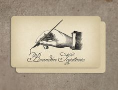 250 Custom Vintage Calling Cards Business Cards Script Design. $76.00, via Etsy.