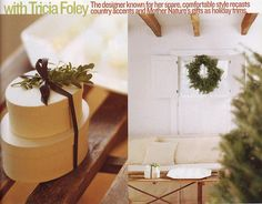 Out of Print Decorating - Country Home, December 2003, A Simple Christmas, featuring the home of Tricia Foley
