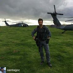 SantiagC instagram 'Back in action!' filming at Stonehenge for #transformers October 2016