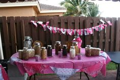 Gabriela's 5th Cow Girl Party by Party Elegance Events #cowgirlparty #cowgirlbirthday #trailmixstation #makeyourowntrailmix #trailmix #bandanabanner