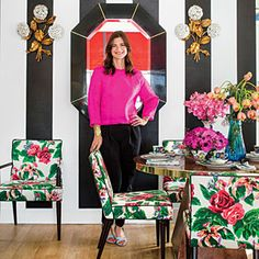 Edgy Approach to Chintz - Southern Living. Fazenda Lily by Carleton Varney