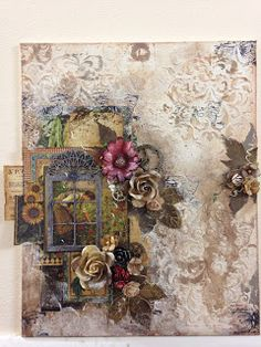 Mixed Media Canvas Art with G45 French Country | My Butterfly Garden