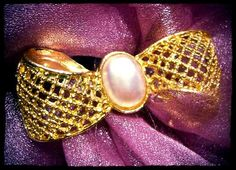Weaved Gold Tone Faux Pearl Brooch. by 4RLoveOfAntiques on Etsy