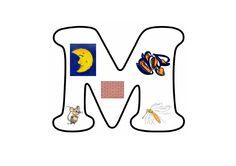 Letterpuzzel - Letter M Letter School, M Letter, Spelling, Montessori, Teaching, Education, Tutorials, Onderwijs, Learning