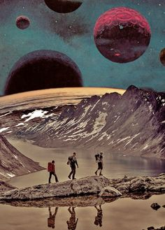 Ayham Jabr — Into The Retro. Surreal Mixed Media Collage Art By Ayham Jabr